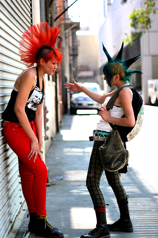 punk rock friends with mow hawks