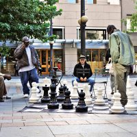 street chess game