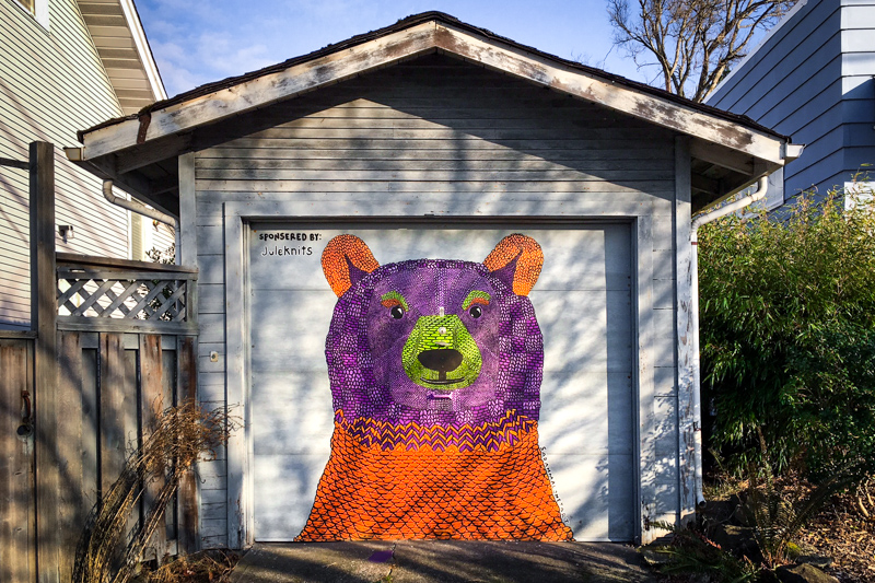 colorful bear mural