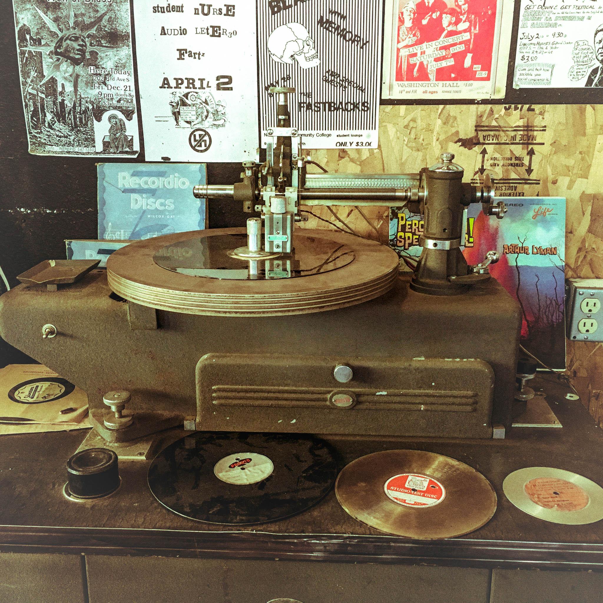 vintage record press