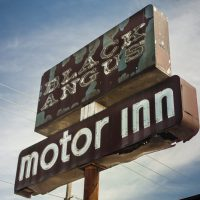 old motel sign