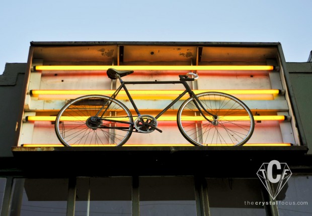 Neon Bike Sign