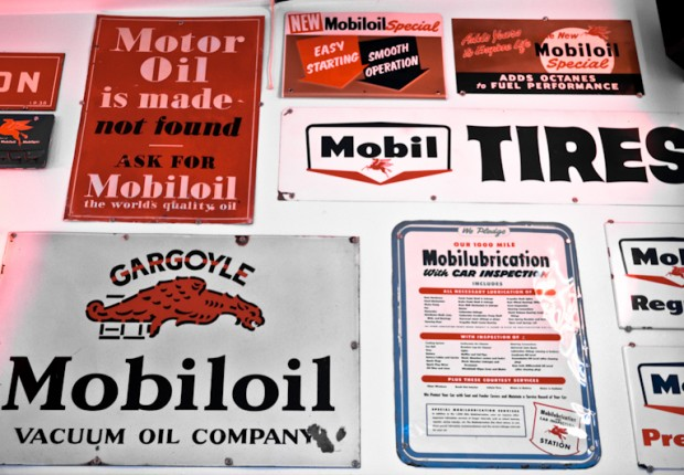 mobil oil signs