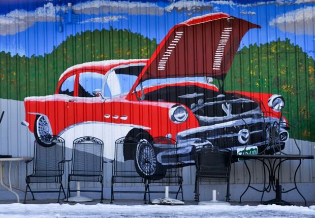 Vintage Car Mural