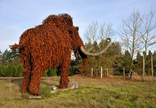 Woolly Mammoth Sculpture