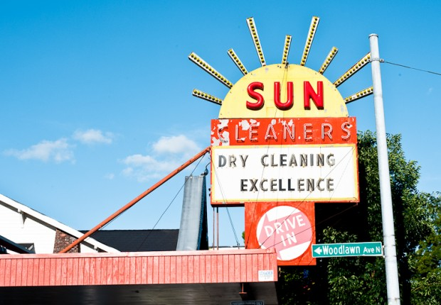 Sun Cleaners Sign
