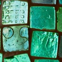 green tiles abstract