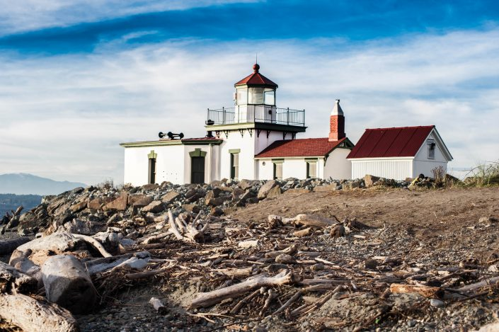Discovery Lighthouse, Discovery Park, Seattle, driftwood, wood