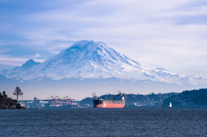 Discovery Park, Seattle, mt rainier, puget sound, ship