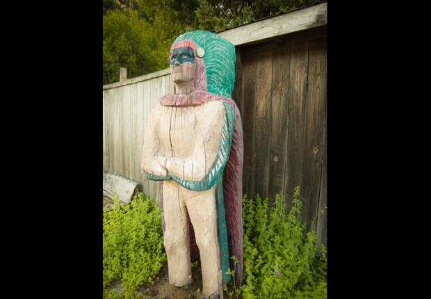 Native American Wood Sculpture