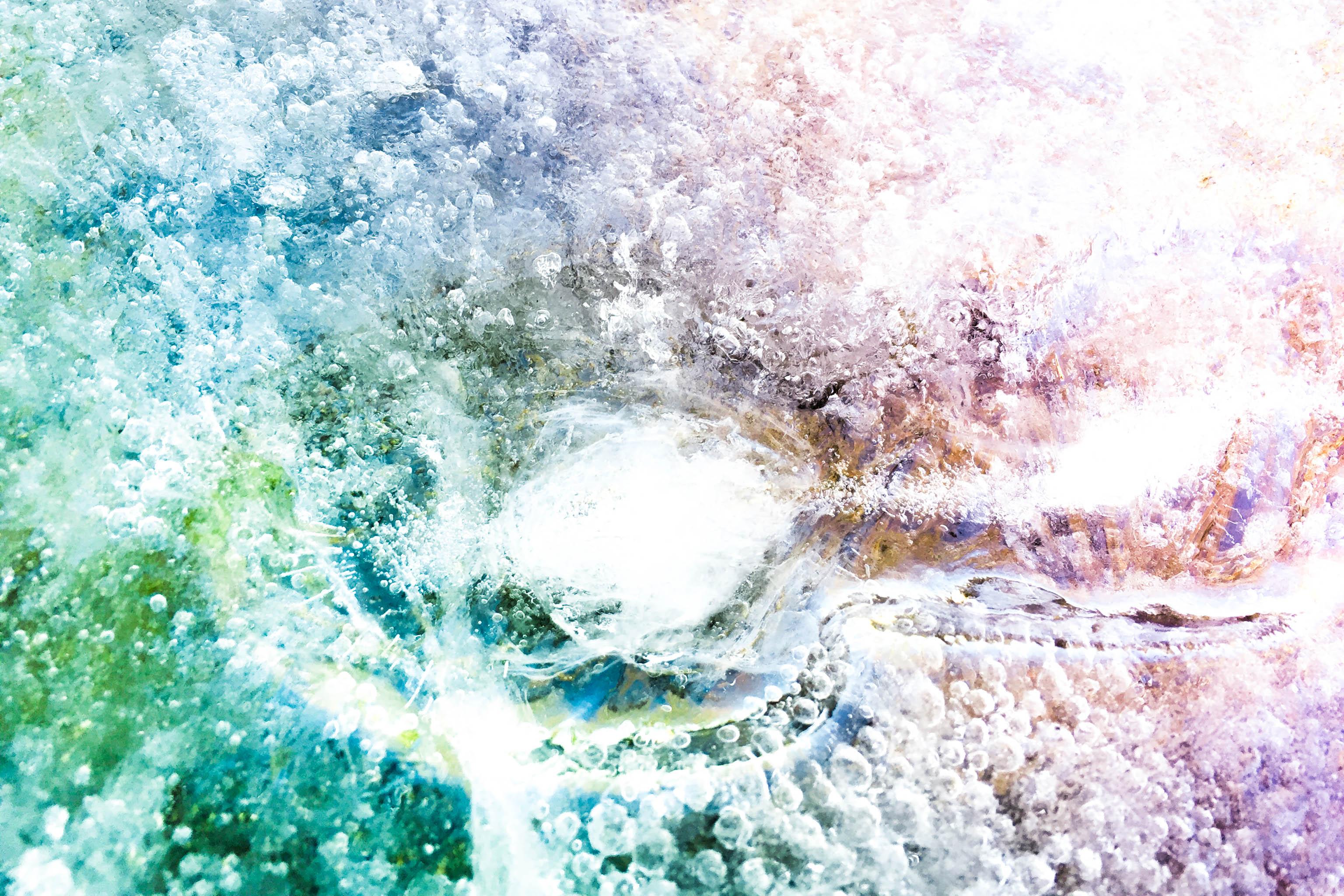 macro frozen ice