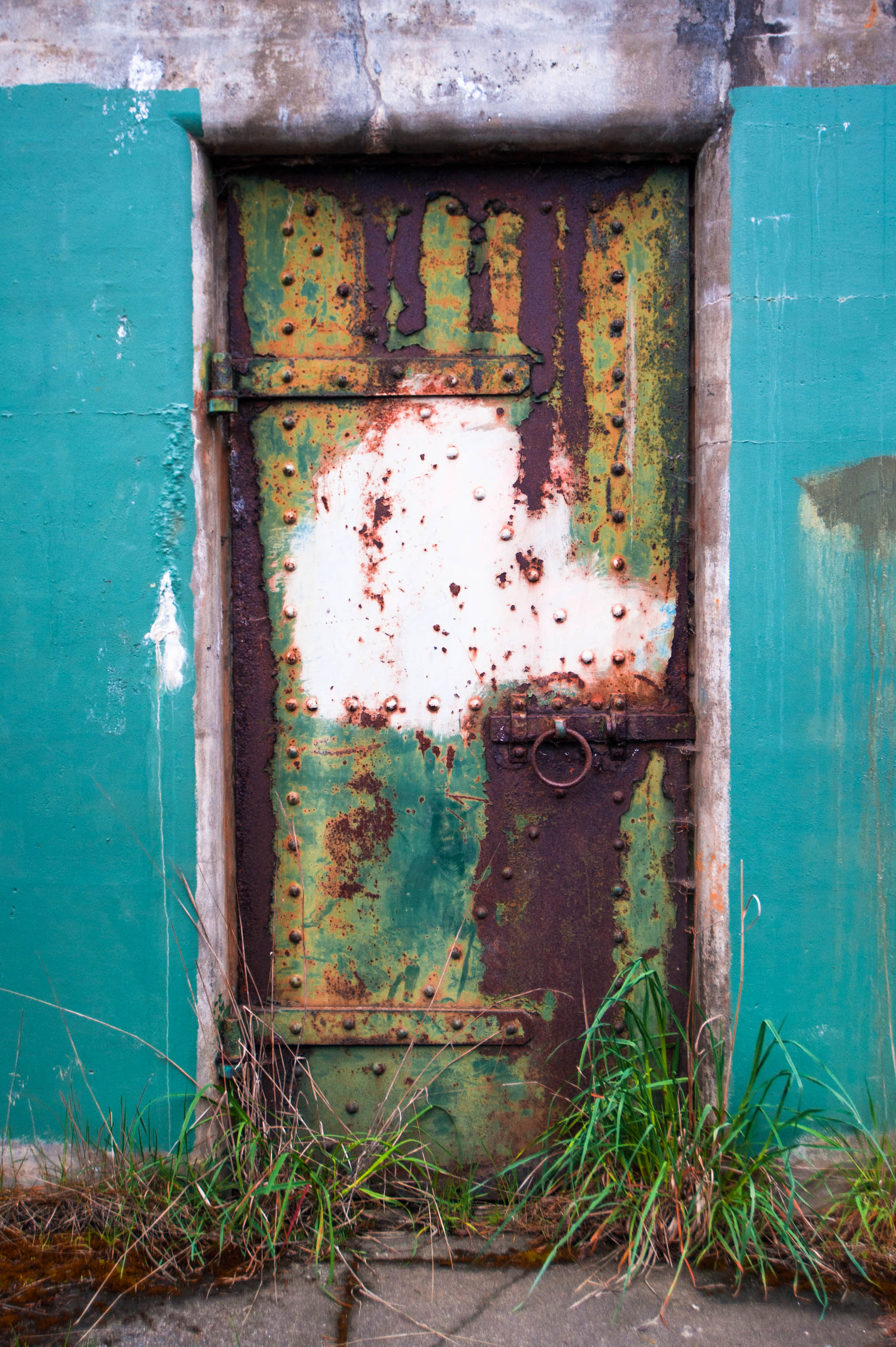 rusty painted door