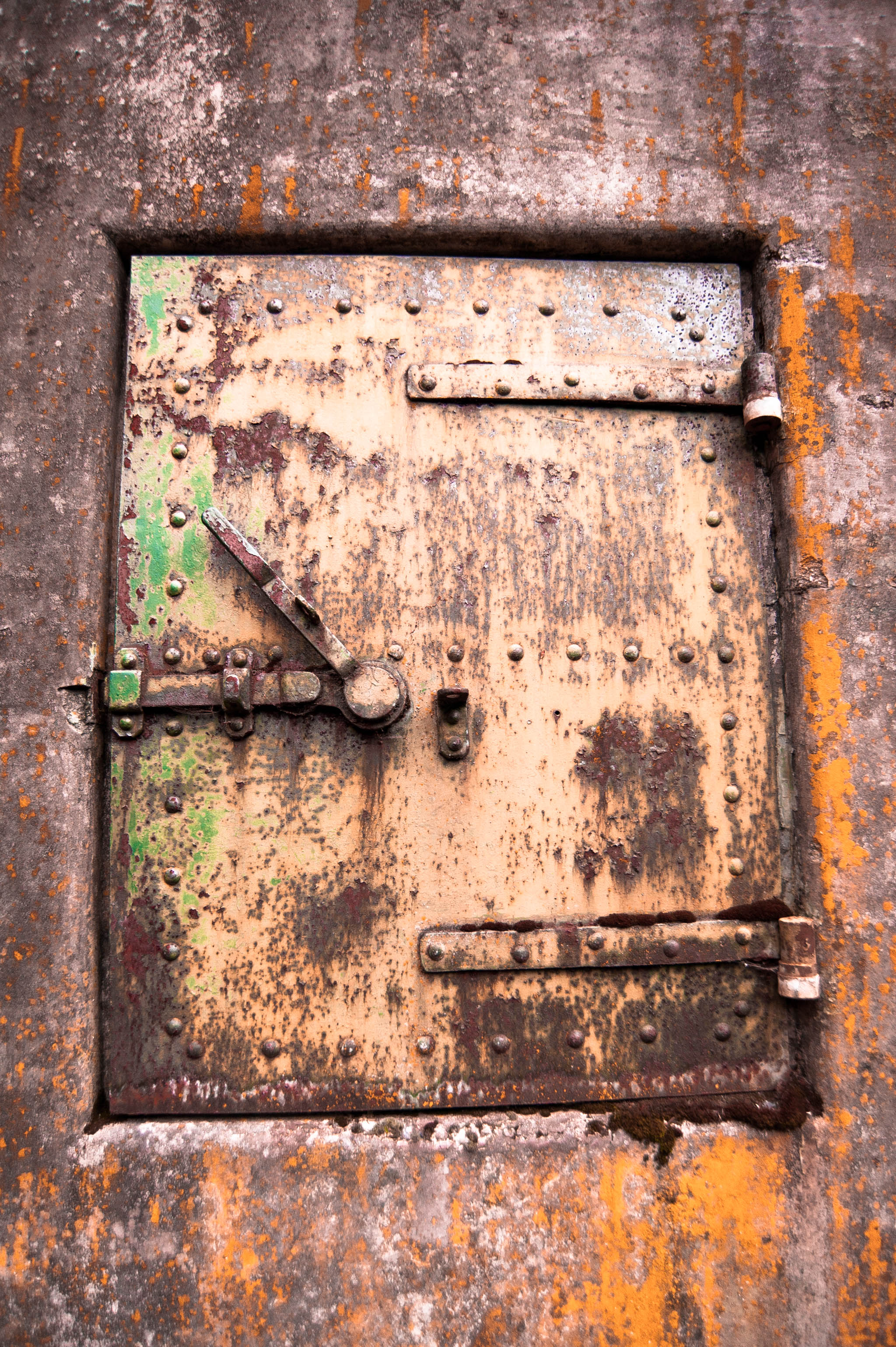 industrial rusty door