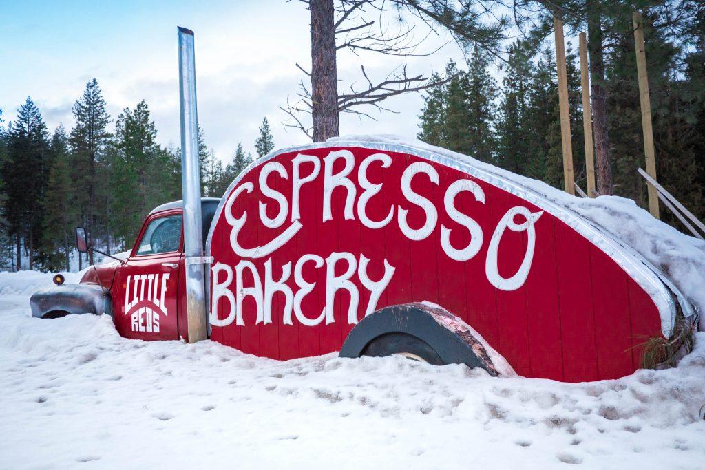 Skiing, Stevens Pass, Winter, old truck
