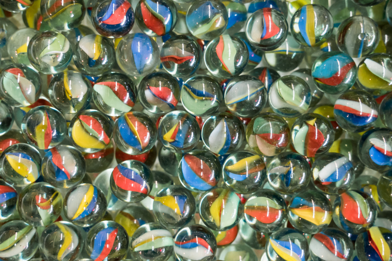 pattern of glass marbles