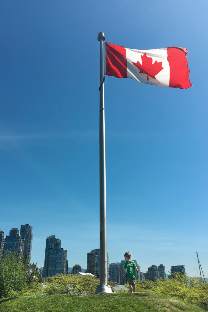 Canada, Granville Island, Vancouver BC, flag, parks