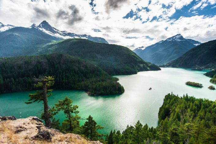 Washington, diablo lake, lake, landscape, mountain, nature, north cascades, pacific northwest, water