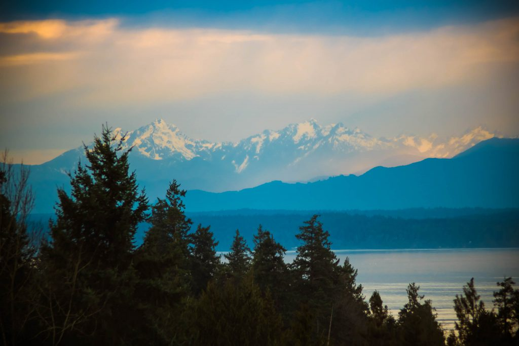 boeing creek park, mountain, olympic mountains, park, puget sound, shoreline
