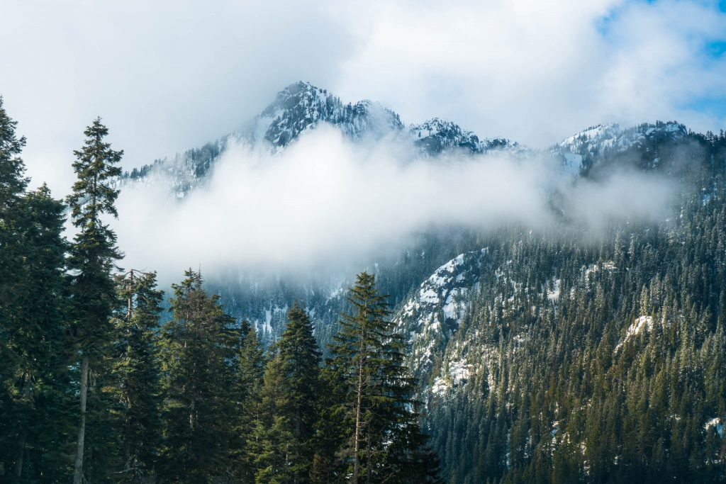 Washington, clouds, mountains, snoqualmie pass