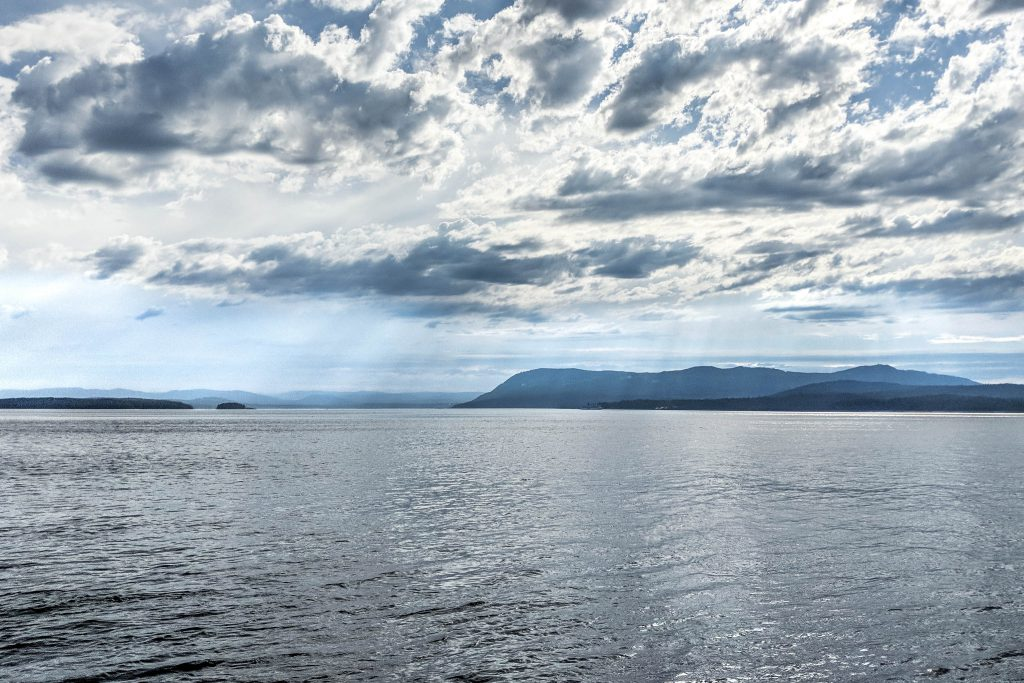 BC, british columbia, carter cove, clouds, island, pender island