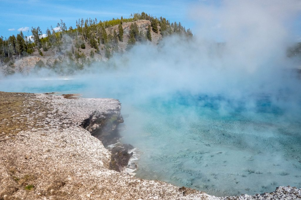 excelsior geyser crater, hot springs, yellowstone, yellowstoneyellowstone national park