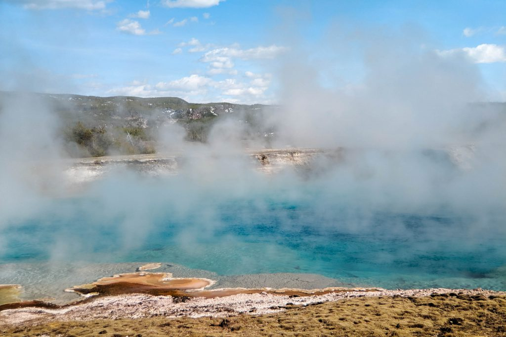 crater, excelsior geyser, excelsior geyser crater, hot springs, pixel, yellowstone, yellowstone national park