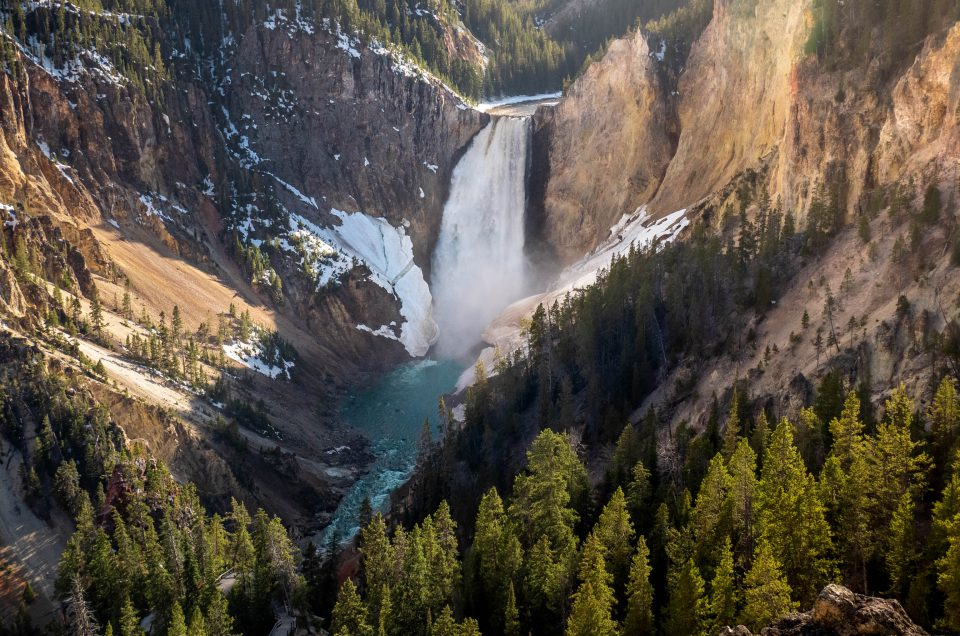 lower falls, yellowstone, yellowstone grand canyon